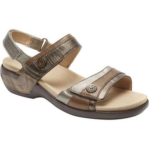Aravon Women's Katherine Adjustable Strap Sandal Metallic Multi