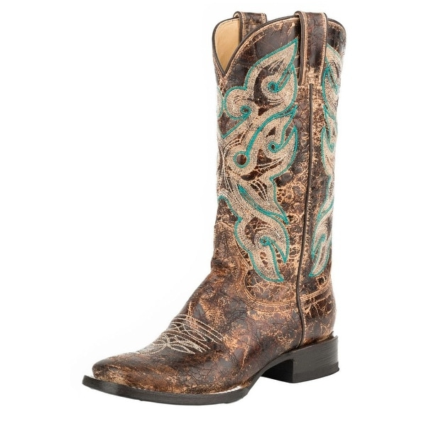 Stetson Western Boots Womens Sadie Leather Brown