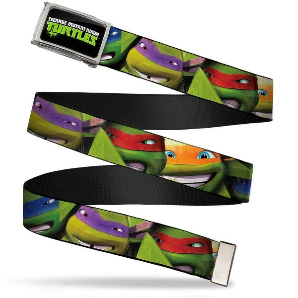 New Series Tmnt Logo Fcg Chrome New Series Tmnt Faces Close Up Webbing Web Belt