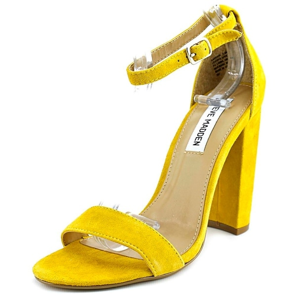 Steve Madden Carrson Women Open Toe Suede Yellow Sandals