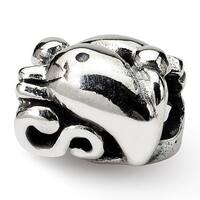 Sterling Silver Reflections Dolphin Bead (4mm Diameter Hole)