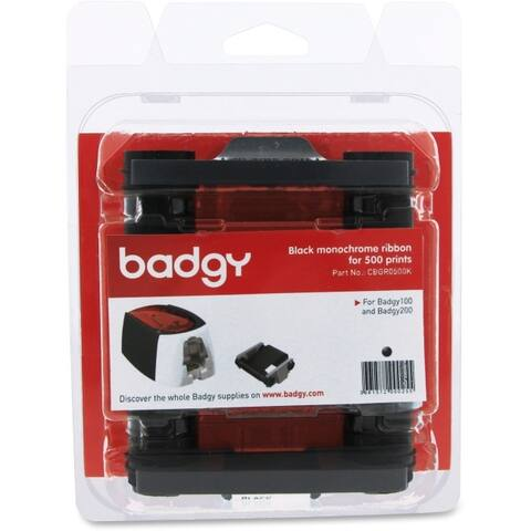 Evolis cbgr0500k badgy100/200 black ribbon blk