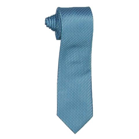 Kenneth Cole Reaction Mens Victor Neck Tie Silk Blend Business - Blue - O/S