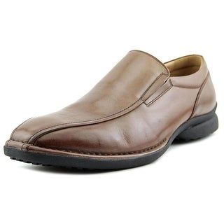 Kenneth Cole Reaction Party Punch Men Square Toe Leather Brown Loafer
