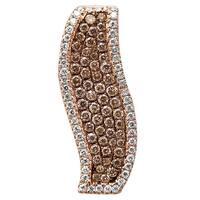 Prism Jewel 0.46Ct Brown Color Diamond With Natural Diamond Designer Pendant - White G-H