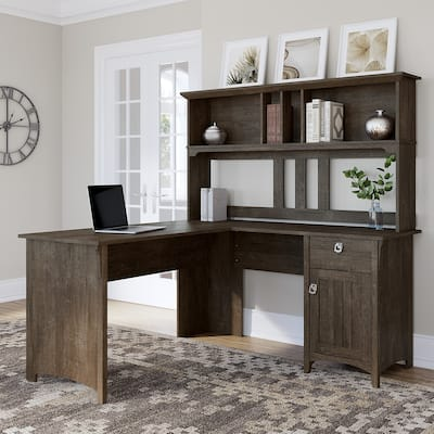Salinas L-shaped Desk with Hutch by Bush Furniture