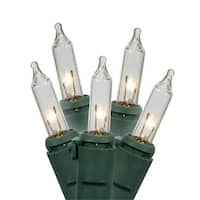 Clear Commercial Grade Mini Christmas Lights - Green Wire