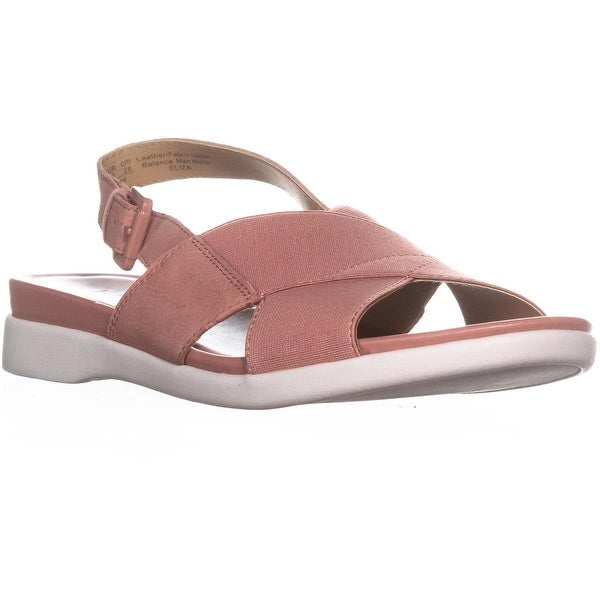 naturalizer Eliza Flat Ankle Strap Sandals, Peony Pink