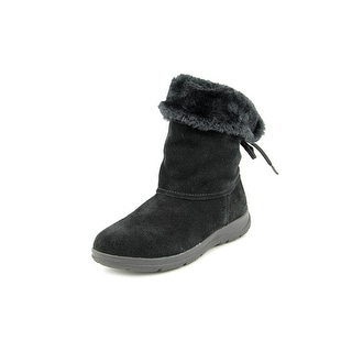 White Mountain Thumper Women Round Toe Suede Black Winter Boot