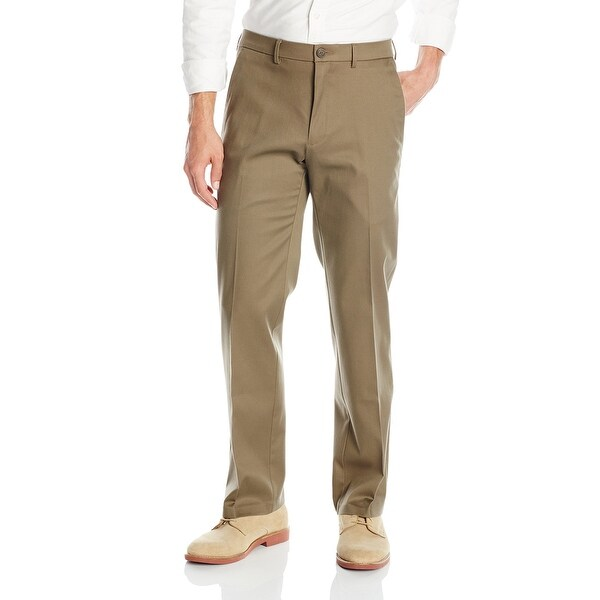Dockers Mens Pants Brown Size 42X30 Straight Fit Flat Front Khaki. Opens flyout.