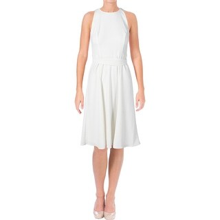Lauren Ralph Lauren Womens Jaydina Wear to Work Dress Fit & Flare Knee-Length