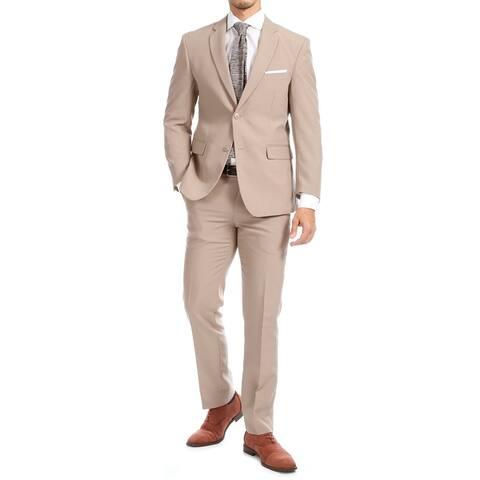 Ferrecci Men's Paul Lorenzo Slim Fit 2 Piece Notch Lapel Suit Set with Blazer Jacket & Dress Pants