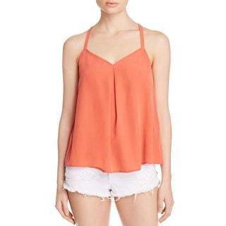 Joie Womens Tank Top Silk Pleated