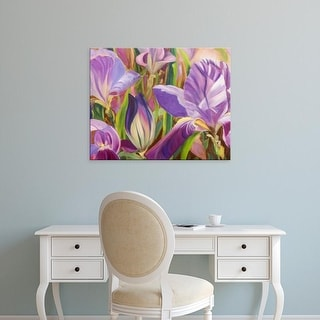 Easy Art Prints Sandra Iafrate's 'Iris Details I' Premium Canvas Art