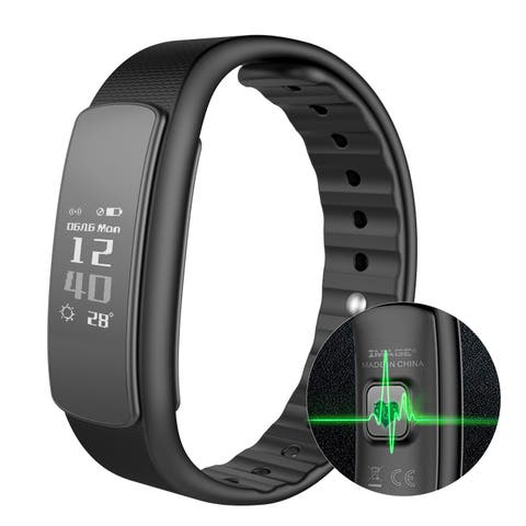 Image IP67 Waterproof Fitness Tracker Smart Watch Bracelet Band Heart Rate Monitor for Android iPhone - SIZE