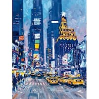 ''Times Square, NYC'' by Roy Avis New York Art Print (31.5 x 23.5 in.)