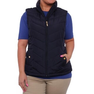 Charter Club Zip-Front Lucy Puffer Vest Vest Deepest Navy