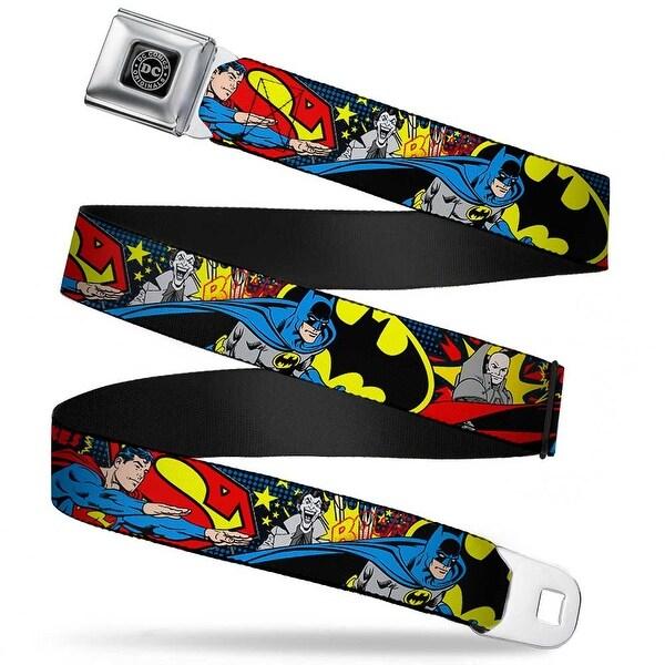 Dc Originals Black Silver Classic Batman Joker & Superman Lex Luthor Seatbelt Belt