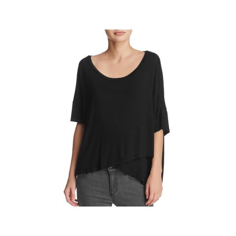 Project Social T Womens Talley T-Shirt Surplice Hi-Low