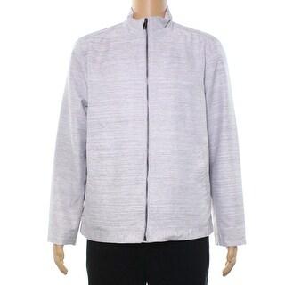 Alfani NEW Smoke Gray Men's Size Large L Lightweight Textured Jacket