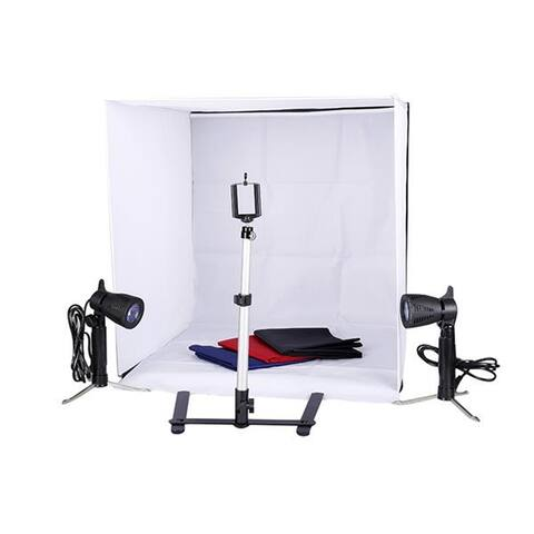 Kshioe 60cm Shelves Mini Studio Set Black & White & Red & Blue