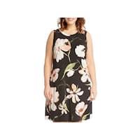 Karen Kane Womens Plus Mini Dress Halter Floral Print