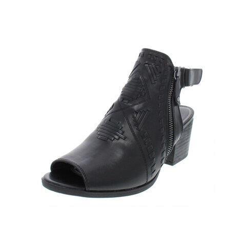 Baretraps Womens Ivalyn Booties Faux Leather Peep Toe