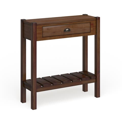 Copper Grove Camellia Solid Wood Console Table