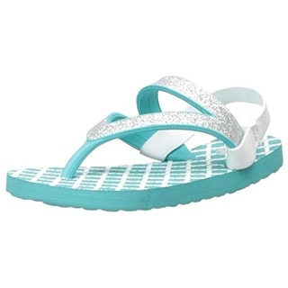 Sanuk Girls Lil Selene Crystal Glitter Man Made Flip-Flops