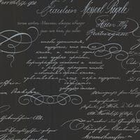 Brewster 2532-20461 Ferdinand Black Poetic Script Wallpaper - N/A