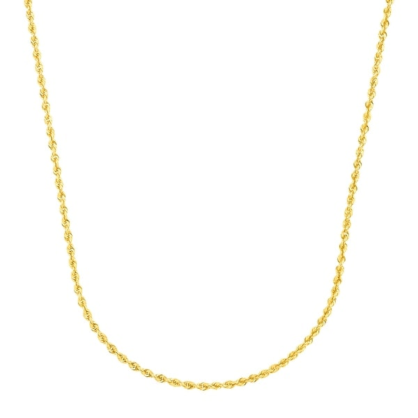 "Just Gold 18"" Glitter Rope Chain in 14K Gold - Yellow"