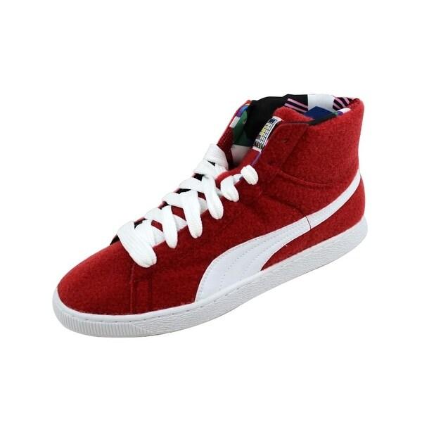 Puma Men's Basket Mid X Dee & Rickey CR Ribbon Red/White 360085 01