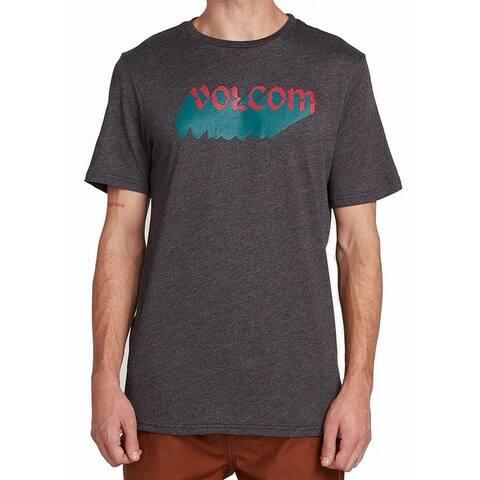 Volcom Men T-Shirt Charcoal Gray Size XL Modern Fit Night Creep Crewneck Tee 373