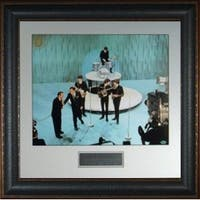 Paul McCartney unsigned The Beatles 16X20 Photo Leather Framed Ed Sullivan Show entertainment