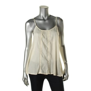 Free People Womens Lace Pintuck Tank Top