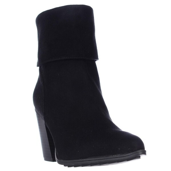 A35 Lauree Cuffed Pointed Toe Ankle Boots, Black - 6 us