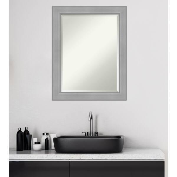 Shop Vista Brushed Nickel Bathroom Vanity Wall Mirror Overstock 31481789