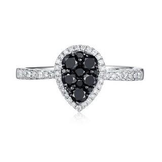 Prism Jewel 0 57Ct Black G H SI2 Diamond Designer Engagement Ring 14k White Gold Size 7