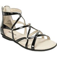 Rialto Women's Maisie Strappy Flat Sandal Black Patent