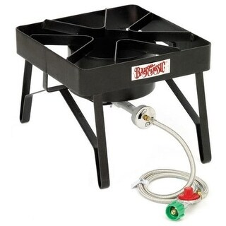 Bayou Classic SQ84 Single Burner Patio Stove - Black