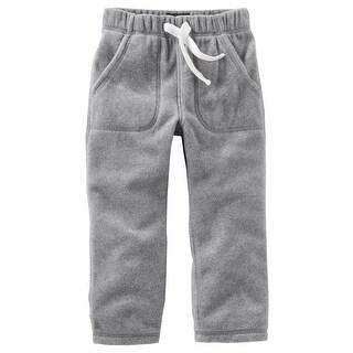 OshKosh B'gosh Baby Boys' MVP Fleece Pants, Heather, 18 Months - gray
