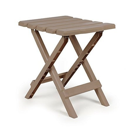Camco 51883 Taupe Regular Quick Folding Adirondack Side Table