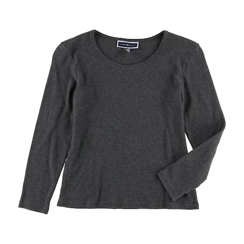 Karen Scott Womens Thick Knit Basic T-Shirt