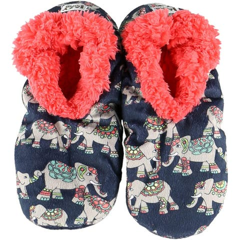 Lazy One Fuzzy Feet Slippers for Women - Cat Nap Fuzzy Feet - Large - X-Large