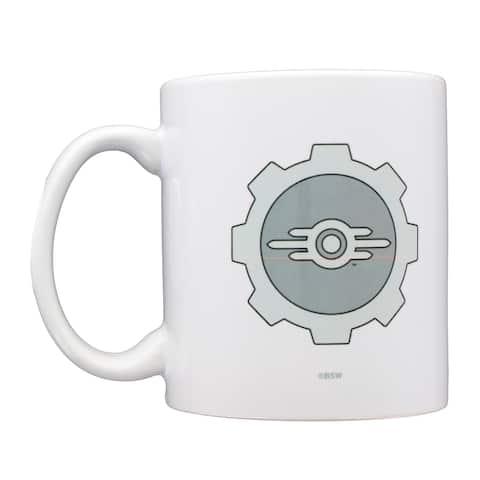 Fallout Vault-Tec Logo Augmented Reality 11oz Ceramic Coffee Mug - White