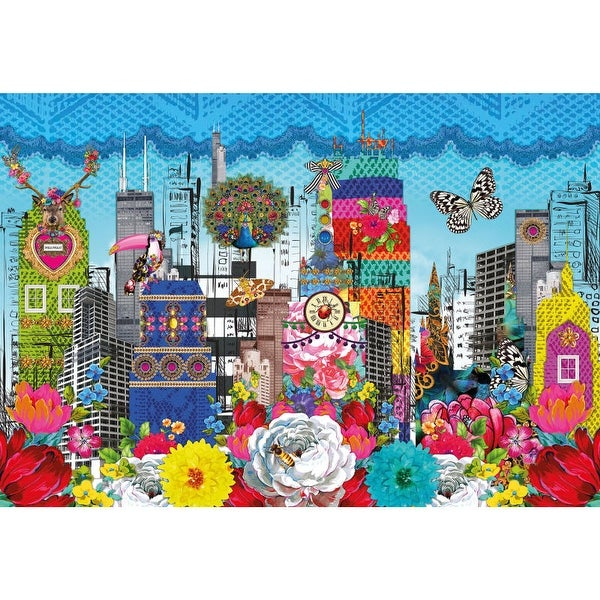 Brewster 8-970 Mellimello City Wall Mural - N/A