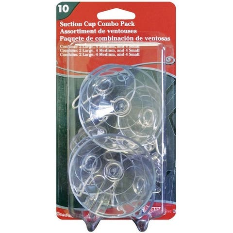 Adams 9761-99-1040 Suction Cup, Clear, Rubber, 10/Pack