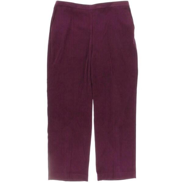 Alfred Dunner Womens Pants Elastic Waist Flat Front