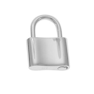 Sterling Silver Large Padlock Pendant/Clasp 14mm X 20mm (1)