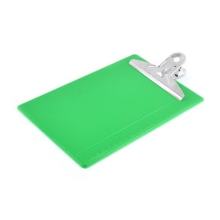 Office Study Metal Clip Plastic Fixation Clipboard Tablet Writing Board Green